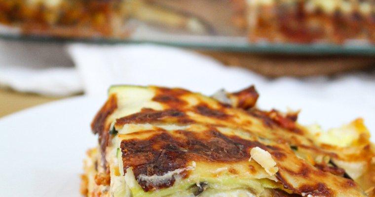Zucchini and Eggplant Banza Lasagna