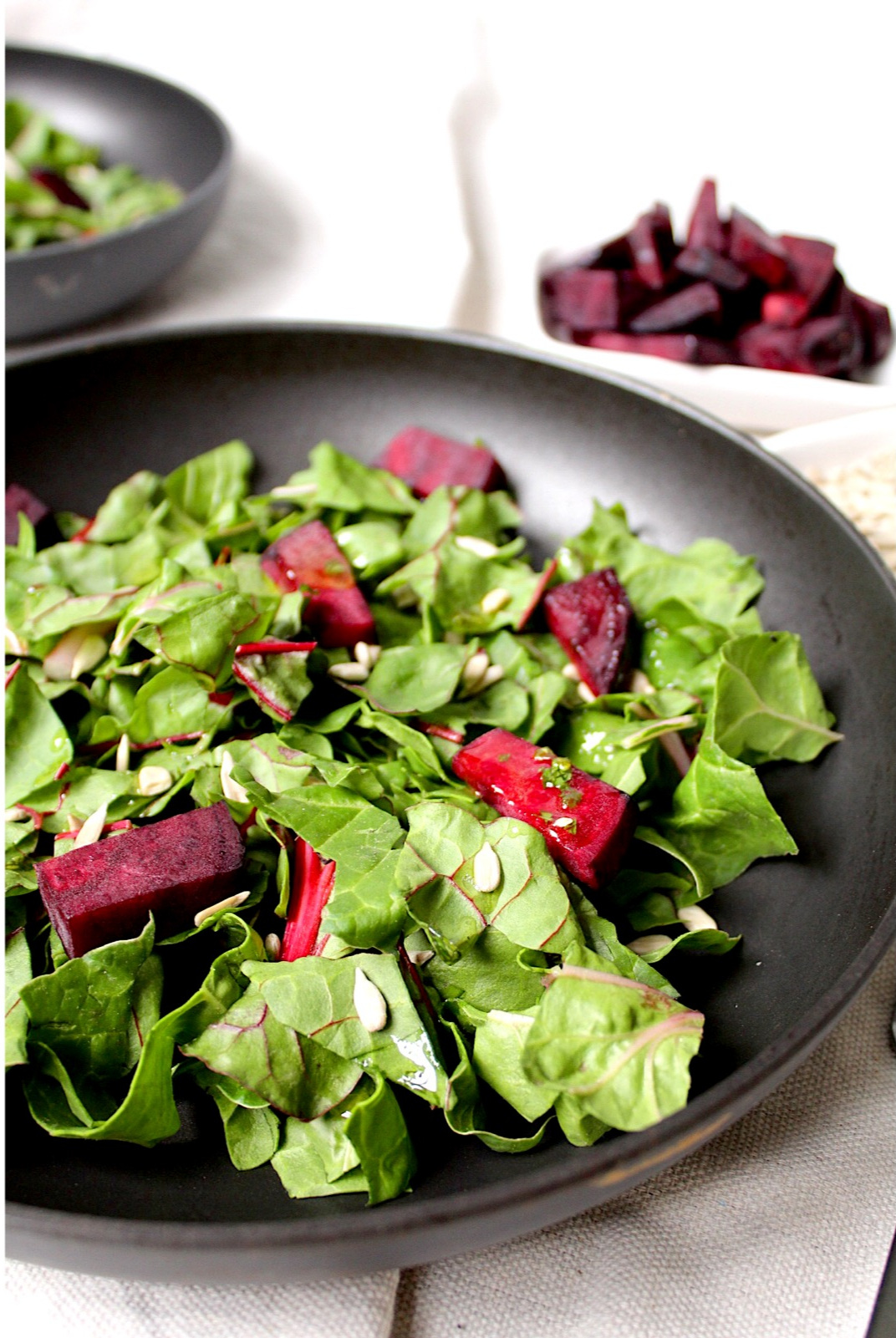 Swiss Chard Beet Salad with Homemade Lemon Apple Cider Vinaigrette