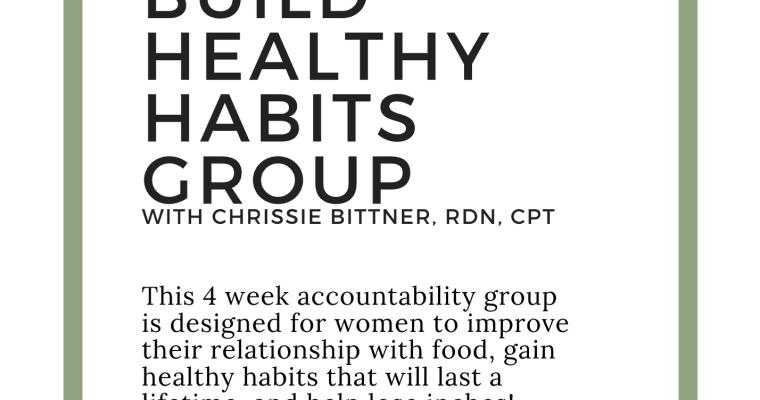 Building healthy habits