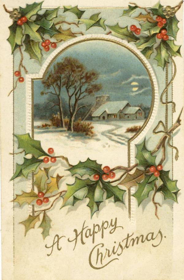 Vintage Postcard Christmas Cards