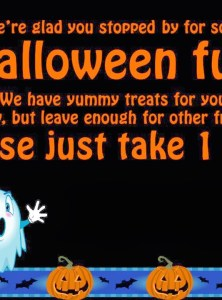 Halloween Trick-or-Treat Sign
