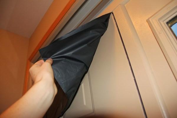 plastic over the door