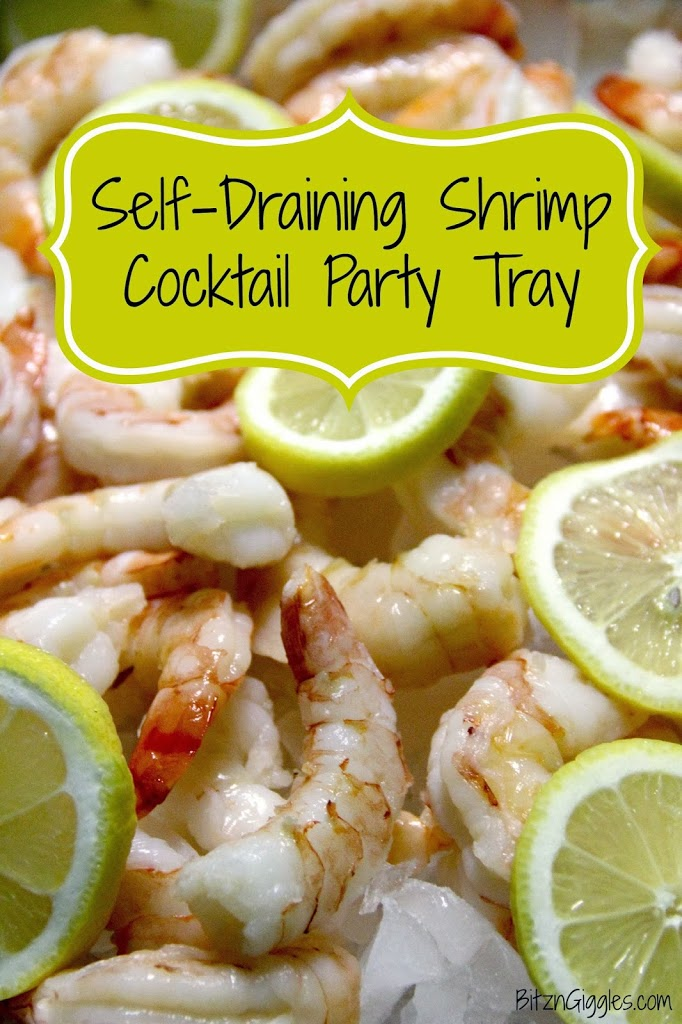 Self-Draining Shrimp Cocktail Party Tray