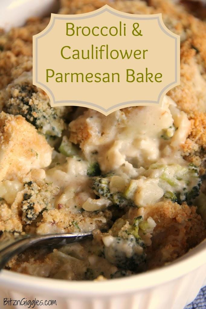 Broccoli  Cauliflower Parmesan Bake - Bitz  Giggles-8388