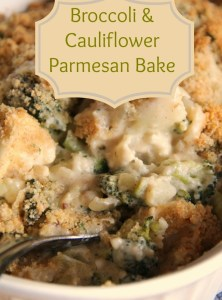 Broccoli & Cauliflower Parmesan Bake