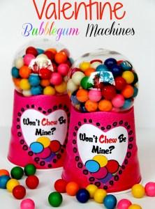 Valentine Bubblegum Machines