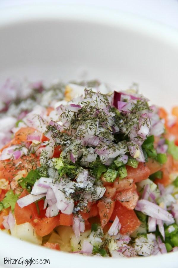 Fresh Cucumber Salsa - Bitz & Giggles