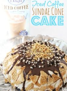 International Delight Iced Coffee Sundae Cone Cake
