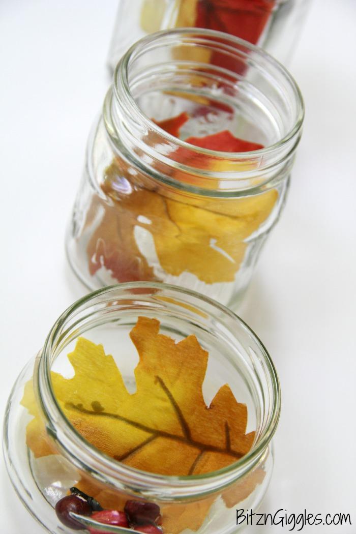 Leaves in jars