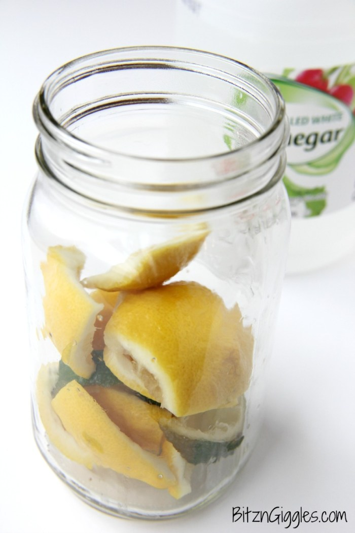 Lemon Lime Vinegar - Turn this vinegar into a natural kitchen cleaner or use it as an ingredient to your other natural cleaning solutions. It smells so much better than just vinegar alone!