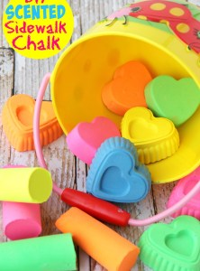 DIY Scented Sidewalk Chalk and #EarlyMemories