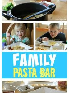 Family Pasta Bar #Saucesome