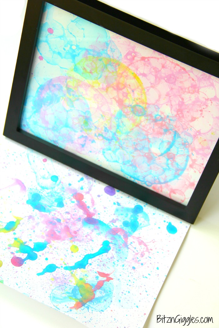 Bubble Art - An awesome activity for kids that creates beautiful art with only a couple ingredients!