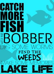 Catch More Fish Printable & Fishing Adventures at the Lake