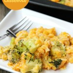 Cheesy Broccoli and Corn Casserole - Flavorful vegetables in a creamy cheese sauce, topped with a crunchy Ritz cracker crust!