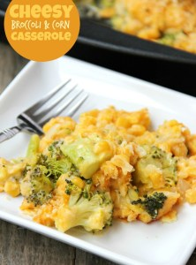 Cheesy Broccoli and Corn Casserole
