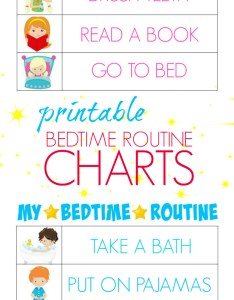 Printable bedtime routine charts free kids to help teach independence also bitz  giggles rh bitzngiggles