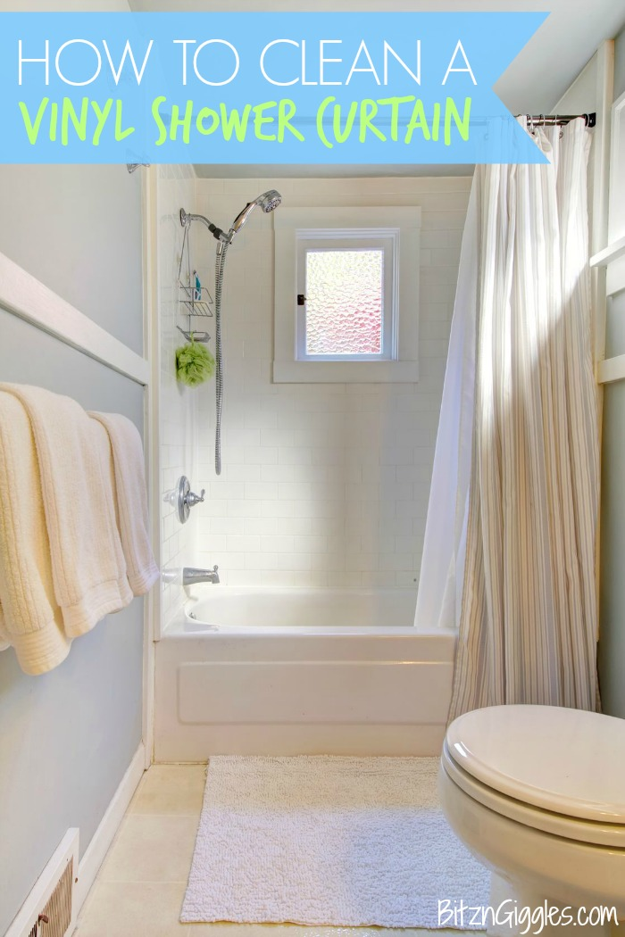 Perfect How To Clean A Vinyl Shower Curtain   Stop Throwing Away Your Grimy Vinyl  Shower Curtains