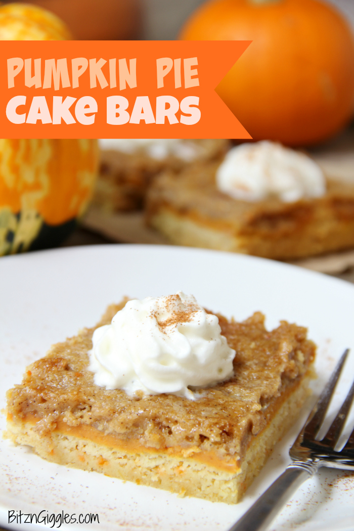 Three-layer pumpkin bars that come together with a cake mix! Cake batter crust, creamy pumpkin center and a cinnamon sugar crumble topping!