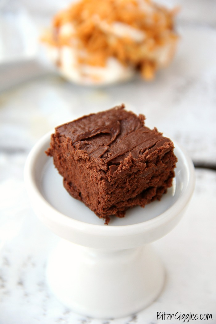Easy Fudge Recipe - Two ingredient creamy fudge made with chocolate chips and your favorite gelato or ice cream!