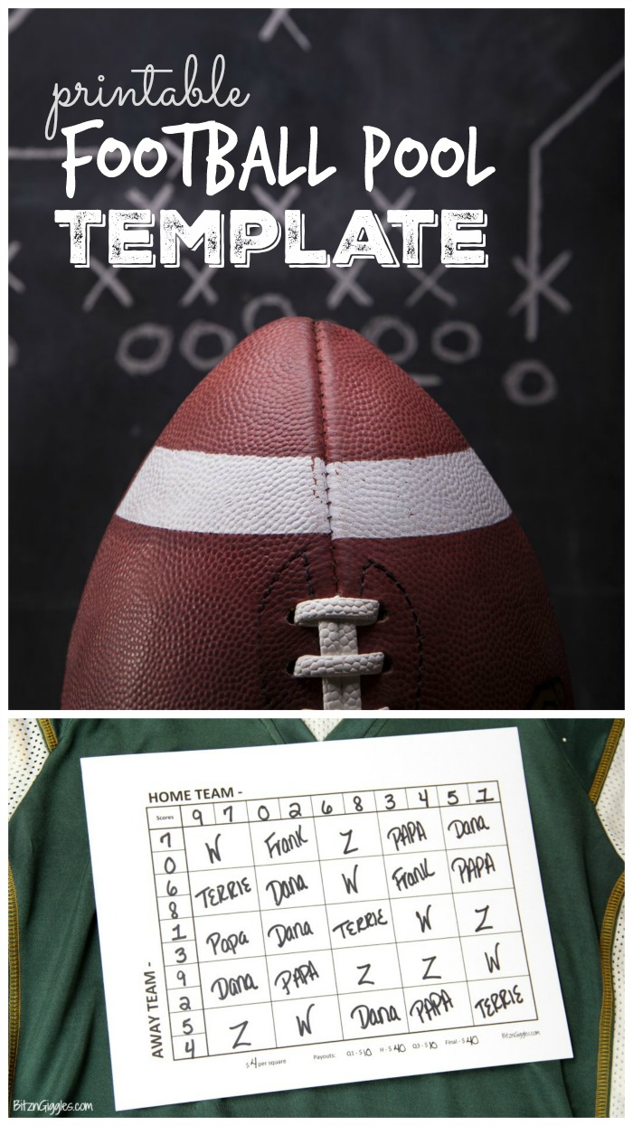 Printable Football Pool Template - Bring another level of excitement to your game day party!