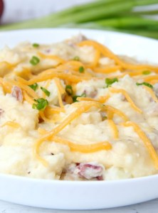 Twice Baked Mashed Potato Casserole