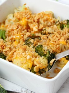 Cheesy Cauliflower and Broccoli Casserole
