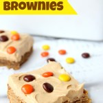 For the peanut butter lovers! Moist, cake-like peanut butter brownies topped with light and fluffy peanut butter frosting!