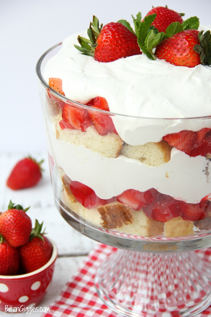 Image result for strawberry trifle
