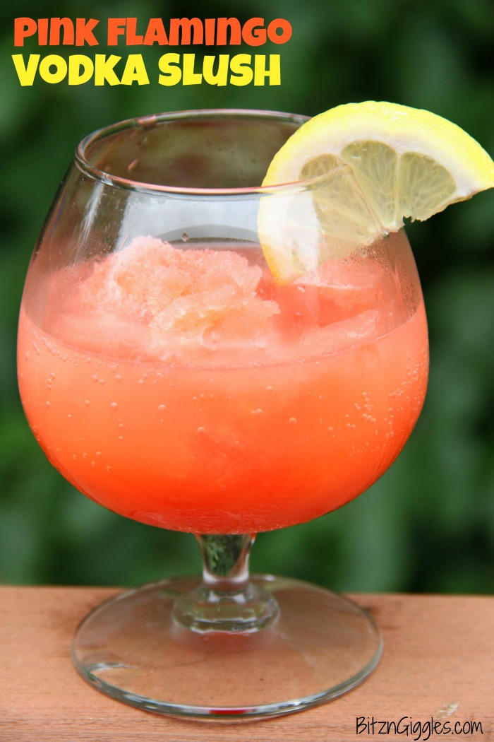 Pink Flamingo Vodka Slush - Pink Flamingo Vodka Slush - A refreshing and flavorful slushy drink perfect for parties and BBQs!