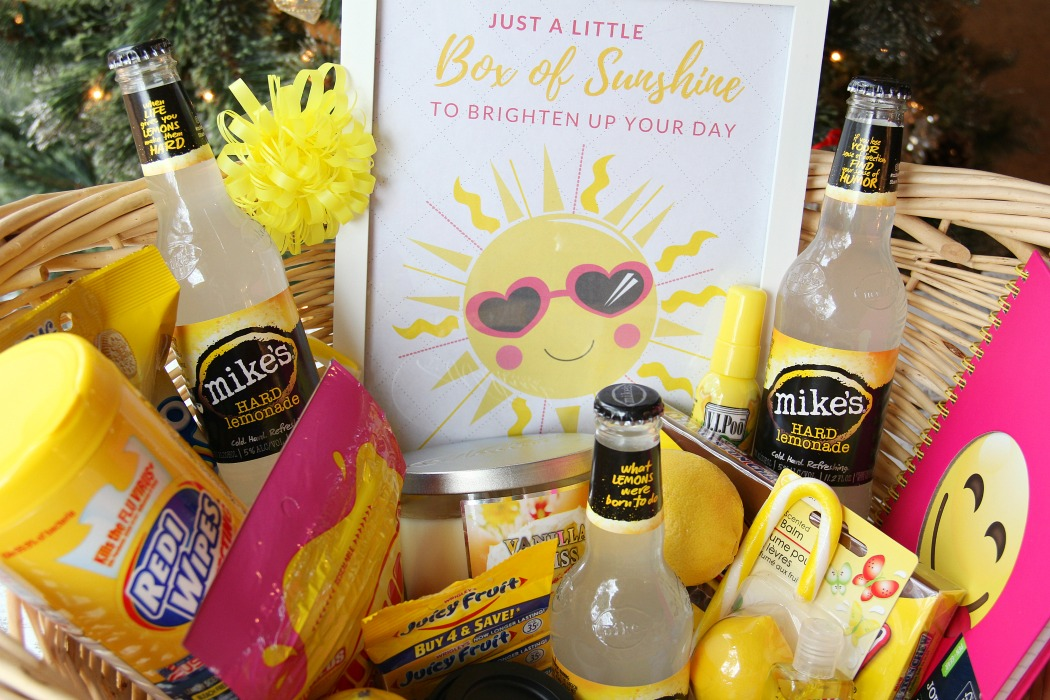 "Box of Sunshine - Create a cheery box of ""sunshine"" filled with all kinds of goodies to make someone special smile. Comes with a free printable to include with your gift!"