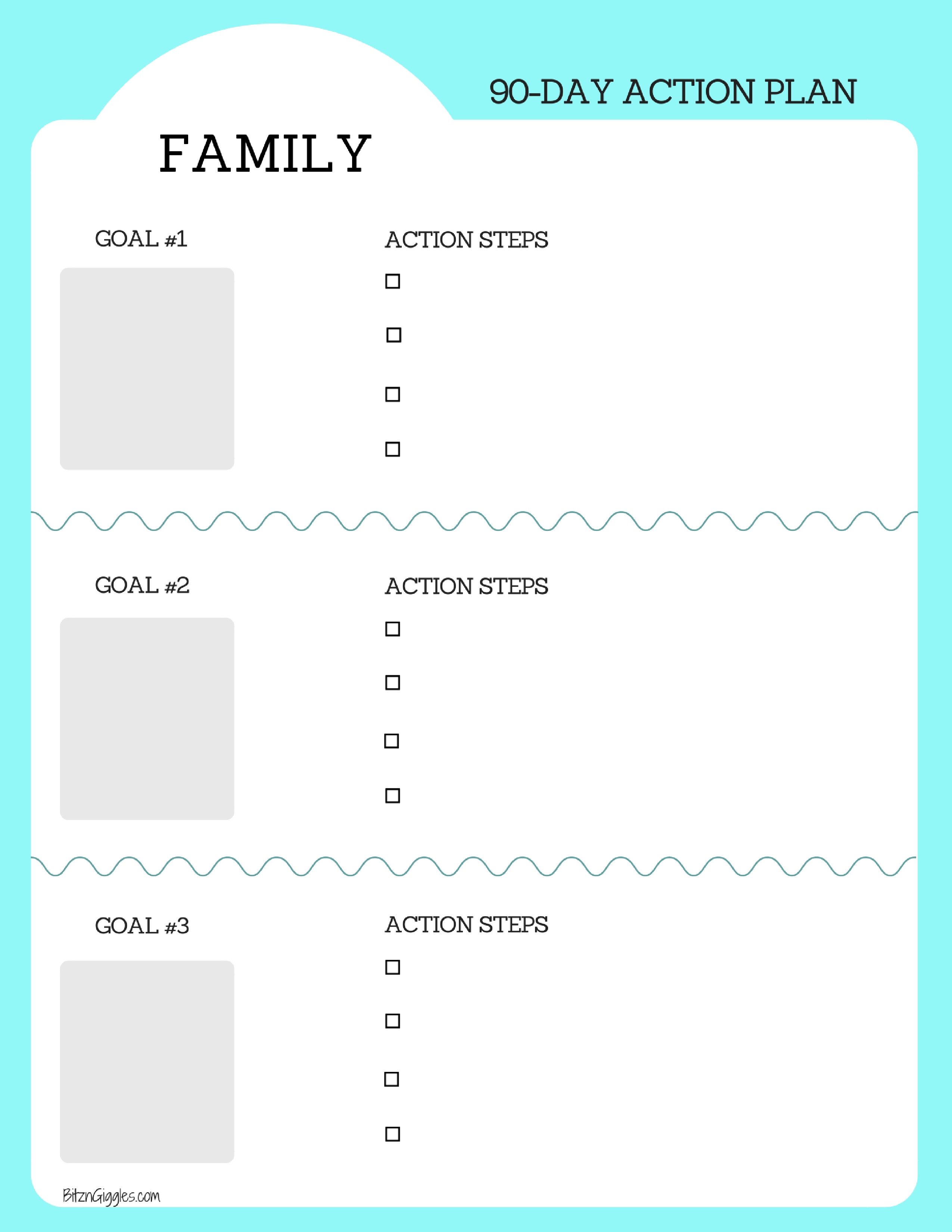 Family Goal Setting Printable