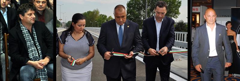 Кисьов вляво, Чоролеев вдясно и политическите им покровители