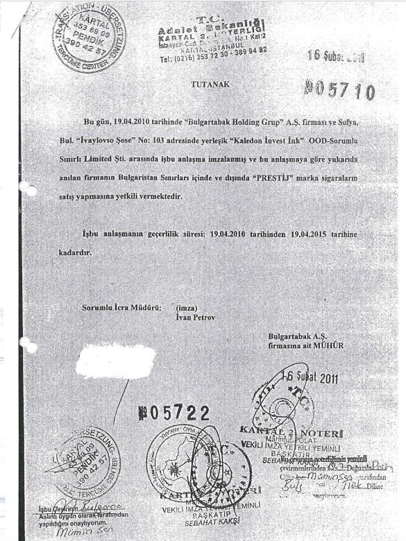 Документы раскрывают новые подробности о мафии «Булгартабак»:  Дистрибьюторы холдинга «Булгартабак» на Ближнем Востоке работают вне закона