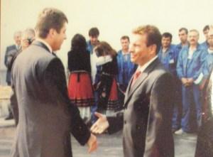 """Президентът с агентурно име Гоце на откриване на нов цех във фабриката """"Миджур"""""""