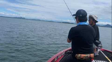 7月16日琵琶湖ガイドは北湖観光から南湖はロクマル様が・・・