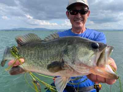 9月20日琵琶湖ガイドはジャスターフィッシュ2.5のピュンリグとジャスターホッグテキサスでビッグフィッシュ!