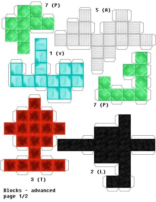 minecraft printable blocks # 12