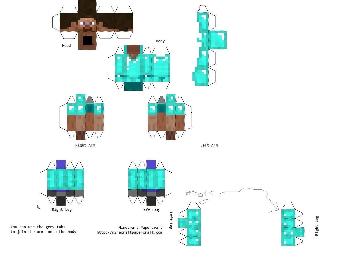 Printable Minecraft Papercraft Enderman