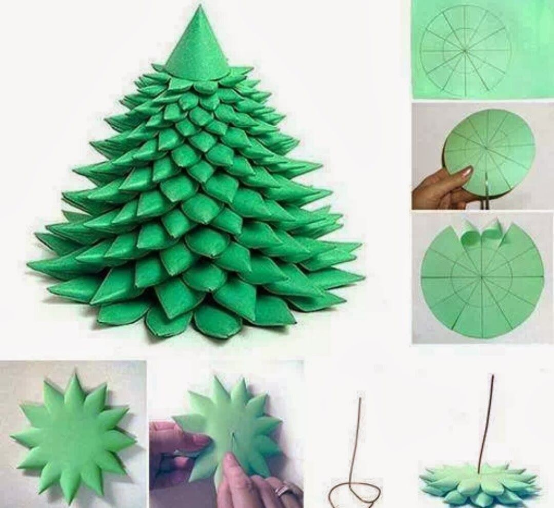 Papercraft Christmas Decorations Diy Paper Christmas Tree Template X Mas Craft Pinterest Printable Papercrafts Printable Papercrafts