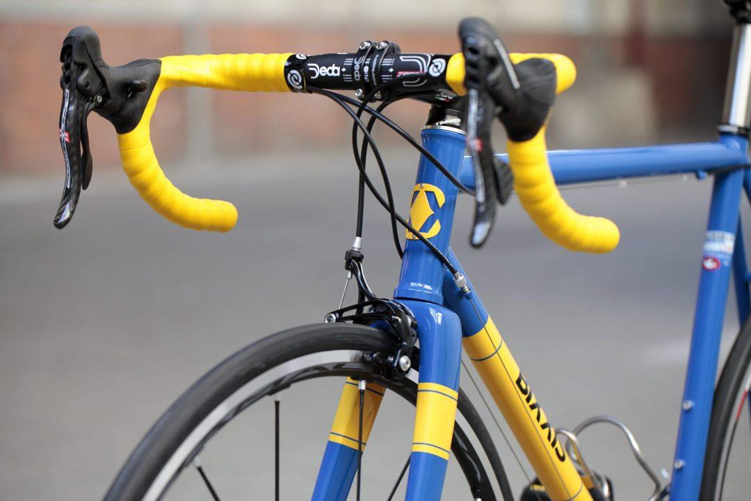 08 Dettaglio manubrio di Bixxis Prima, bicicletta artigianale in acciaio realizzata a mano da Doriano De Rosa 013