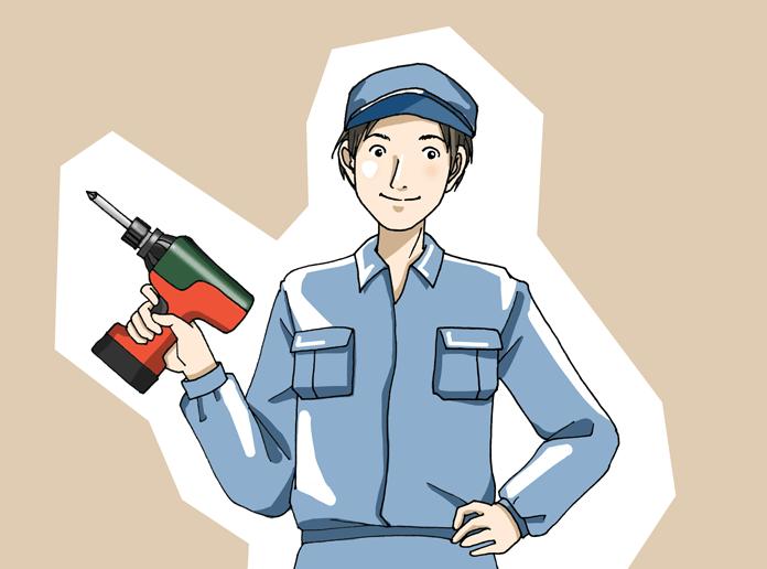 工場勤務の男性