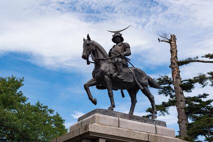 仙台伊達正宗銅像