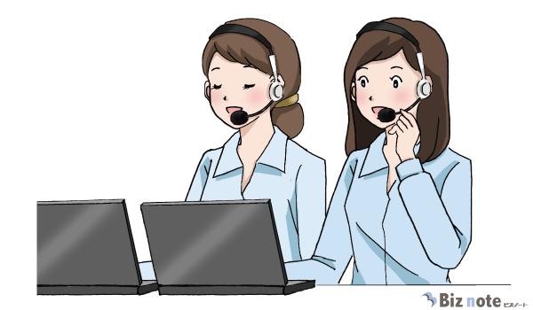 電話対応中のテレフォンオペレーターの女性