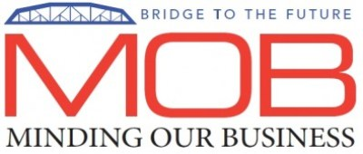 The M.O.B. logo with their slogan,