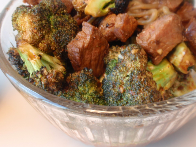 you can see the char marks from the grill on the broccoli :D