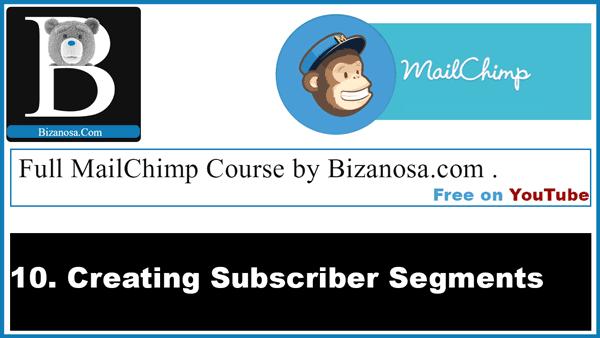 Creating mailchimp segments - Mailchimp list segmentation