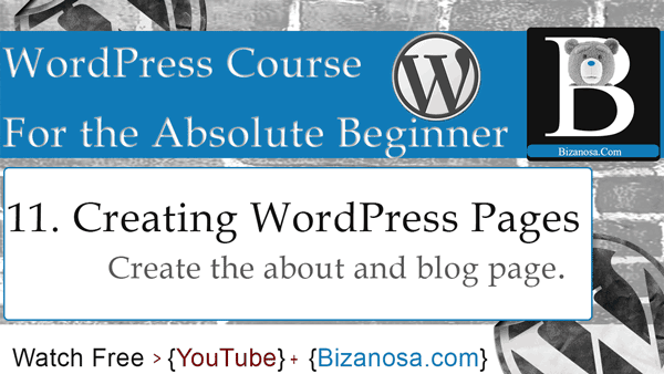 Working with WordPress pages