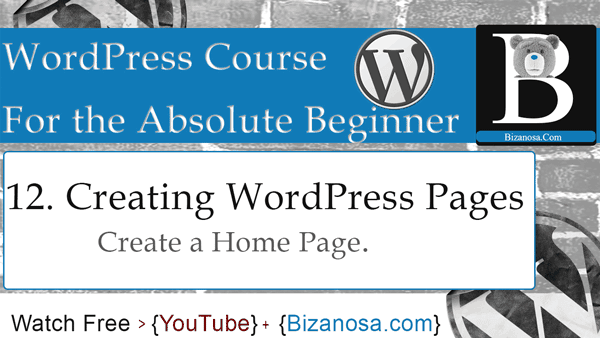 Create a WordPress home page