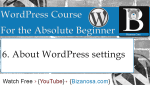 6. WordPress Settings Tutorial